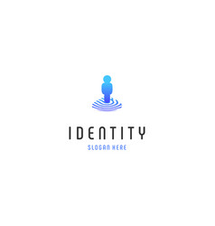 Location id fingerprint human logo design vector