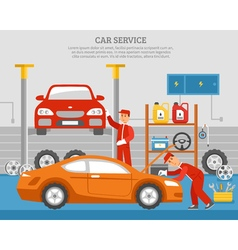 Mechanical Services Of Car vector