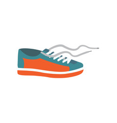 mens shoe in cartoon style vector image