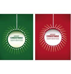 merry christmas background shining christmas ball vector image