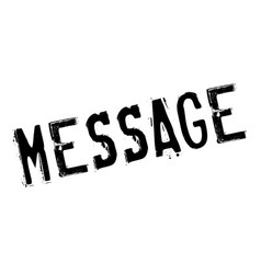 Message rubber stamp vector