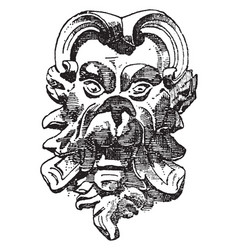 Michelangelo mask from italian renaissance vector