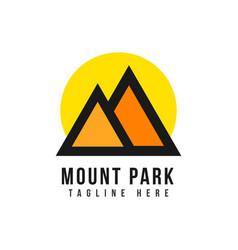 Mount park logo template design vector