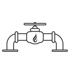 Natural gas pipeline icon vector