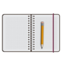 Note book paper with pen vector