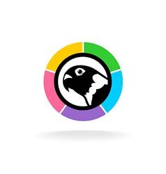 Parrot head logo vector