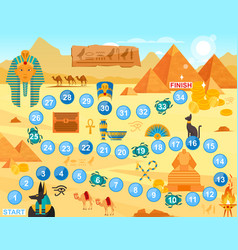 play egypt board game cartoon vector image