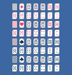 playing cards colored icons set full deck vector image