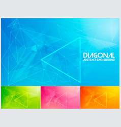 polygonal line and low poly abstract background vector image