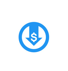 Reduce costs icon vector