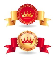 ribbons royal vector image