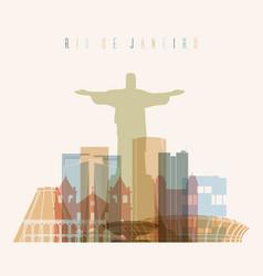 rio de janeiro brazil city skyline vector image