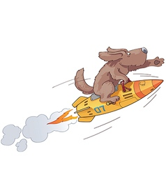Rocket Dog vector image