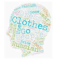 Russian dress code text background wordcloud vector