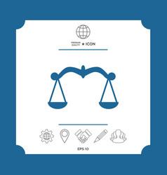 scales icon symbol vector image