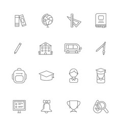 school line icons science linear various symbols vector image