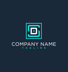 Sd ds initial logo luxury design inspiration vector