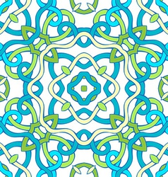 Seamless twisted geometric pattern vector