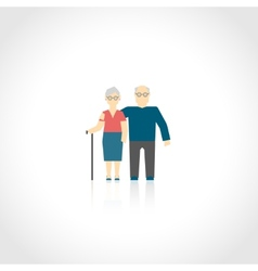 Senior Couple Flat vector image