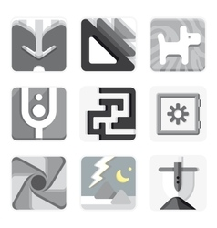 Set of isolated icons for your application vector image