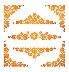set of ornamental elements vector image