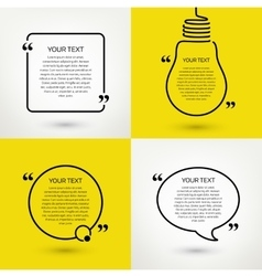 Set of quote text frames format vector image