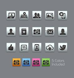 Social icons - satinbox series vector