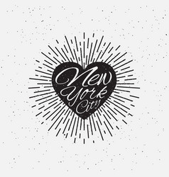 sparkling heart lettering vector image
