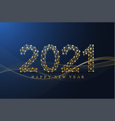 Text design christmas and happy new year 2021 vector