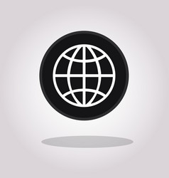 web icon line internet trendy flat world vector image