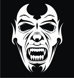 White Vampire Face vector
