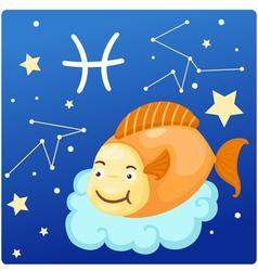 Zodiac signs - pisces vector