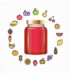 Jar Glass with Jam vector image