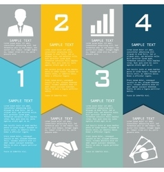 Template with elements for business presentations vector image