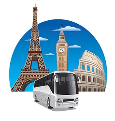 bus tour vector image vector image