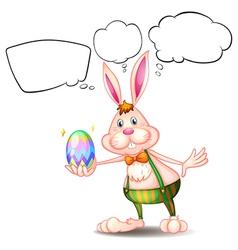 Cartoon Thinking Easter Bunny vector image vector image