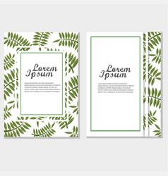 eco brochure design template corporate vector image