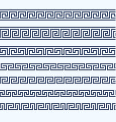 greek pattern border - grecian ornament vector image vector image