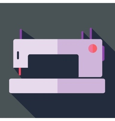 Modern flat design concept icon sewing machine vector image vector image