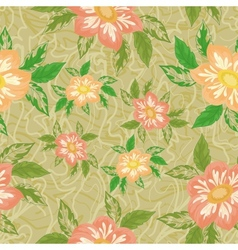 Seamless background with flowers dahlia vector image vector image