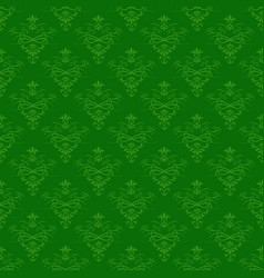 seamless green floral pattern for background vector image vector image