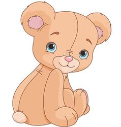 Sitting Teddy Bear vector image vector image