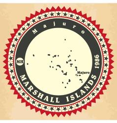Vintage label-sticker cards of Marshall Islands vector image