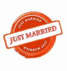 wedding stamp vector image vector image