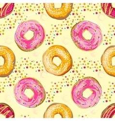 Abstract seamless pattern with colorful vector image vector image