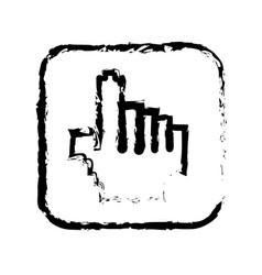contour symbol hand icon vector image vector image
