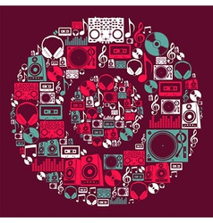 Dj Music icons disc vector image