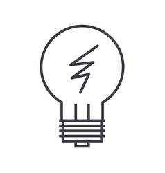 idea lamp line icon sign o vector image