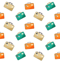 luggage pattern on white background vector image