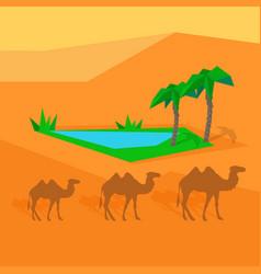 Transportation goods by camel worldwide warehouse vector